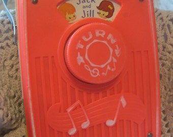 Vintage Jack and Jill Toy Radio by Fisher Price