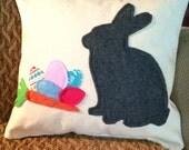 Easter Pillow - Grey Rabbit