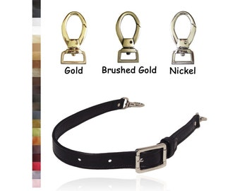 Adjustable Buckle Strap - Medium Length - 1 inch Wide - Your Choice of Genuine Leather Color and Hardware Style #2 - Made to Order