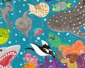 Riot on the Reef - 5x5 mini art print