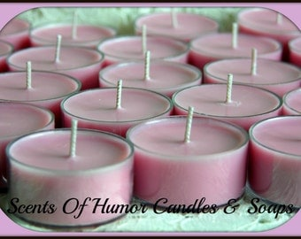 BAHAMA FIzZ Scented Soy Tea Lights - BBW Duplication Type* Scent - Gift Boxed Set Of 6 - Handmade In USA - Hand Poured - Highly Scented