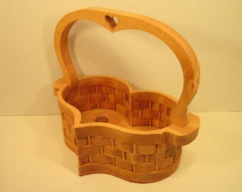 Heart Basket Extra Large Oval with Handle  Handmade