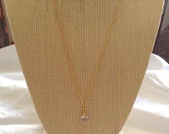 Faceted Ametrine Teardrop Pendant Necklace on 14k Gold