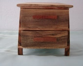 Two Drawer Box with a very descriptive exotic wood name.