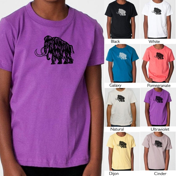 Wooly mammoth toddler t shirt organic american by for T shirt printing downtown los angeles