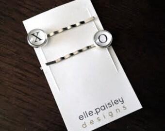 XO Bobby pins // Typewriter hair pins