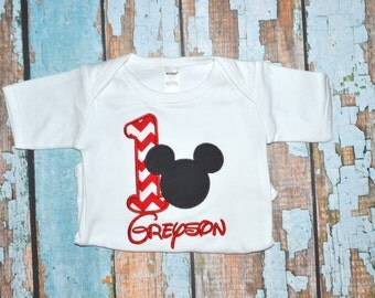 Chevron Mickey Mouse Birthday Shirt, Boys Mickey Mouse Birthday Shirt, Boys Birthday Shirt