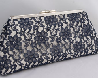 Lace Bag for Bridal Clutch Handbag Bridal accessory with Satin Lining- custom design your own in various colors