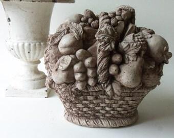 cement fruit basket