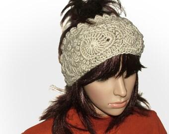 Headband Ear warmer Cowl Neck warmer OOAK Freeform Crochet