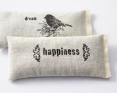 Womens Gift, Dream Happiness Lavendar Pillows, Natural Sleeping Aid, Drawer Freshener Lavender Sachets, Bird Decor