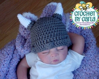 Viking Hat, Newborn to 3 Month, 3 to 6 Month, 6 to 12 Month, Photo Prop, boy or girl hat