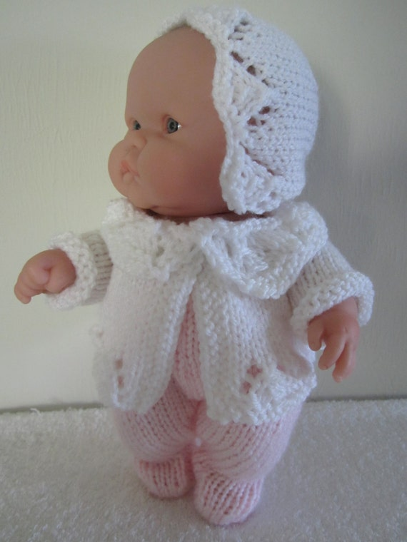 Knitting Pattern Berenguer Baby Doll Lace Pram Set for by ...