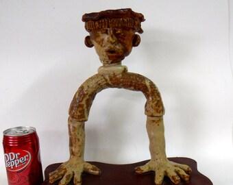 Inca inspired ceramic sculpture