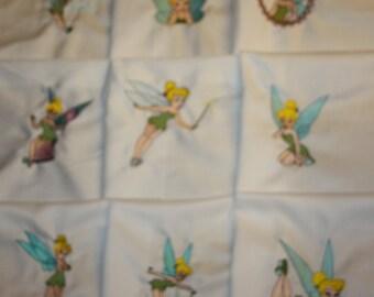 Tinkerbell Machine Embroidered Quilt Blocks Set