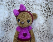 OOAK Bear, Artist Bear,crocheted, thread,Amigurumi, Crochet, Teddy Bear, Stuffed animal, Toy,Collectible