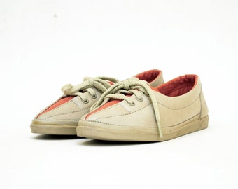 Candies Colorblock Oxfords 5.5. Rust & Tan Leather Almond Toe Skimmers.