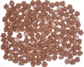 Rose Flat Back Cabochons in rich chocolate brown 10mm (50pcs)