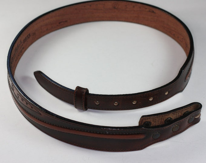 Larry Mahan Western Cowboy Belt Leather Size 30 Vintage