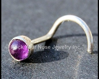 Amethyst Nose Stud Set in Sterling Silver  - CUSTOMIZE
