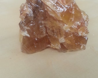 Citrine Calcite One Piece Crystal Chunk Number 7