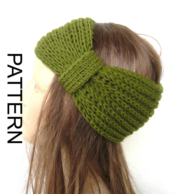 Knitting PATTERN PDF Digital Turban Headband Pattern