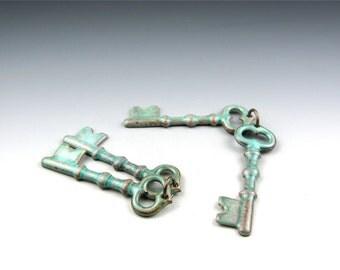 Enameled Keys  / Peppermint enamel  / Made to order