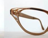 Vintage NOS Aluminum Cat Eye Eyeglasses Frame / Vintage 50s 60s Tura Eyewear Floral Metal / Designer Sunglasses