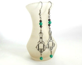 Boho Dangle Earrings; Hippie Earrings; Vintage Dangle Earrings