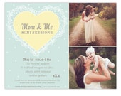 Mom and Me Mother's Day Mini Session Template - INSTANT DOWNLOAD