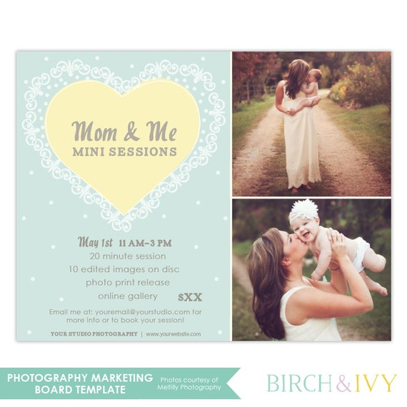 Mom And Me Mother's Day Mini Session Template INSTANT