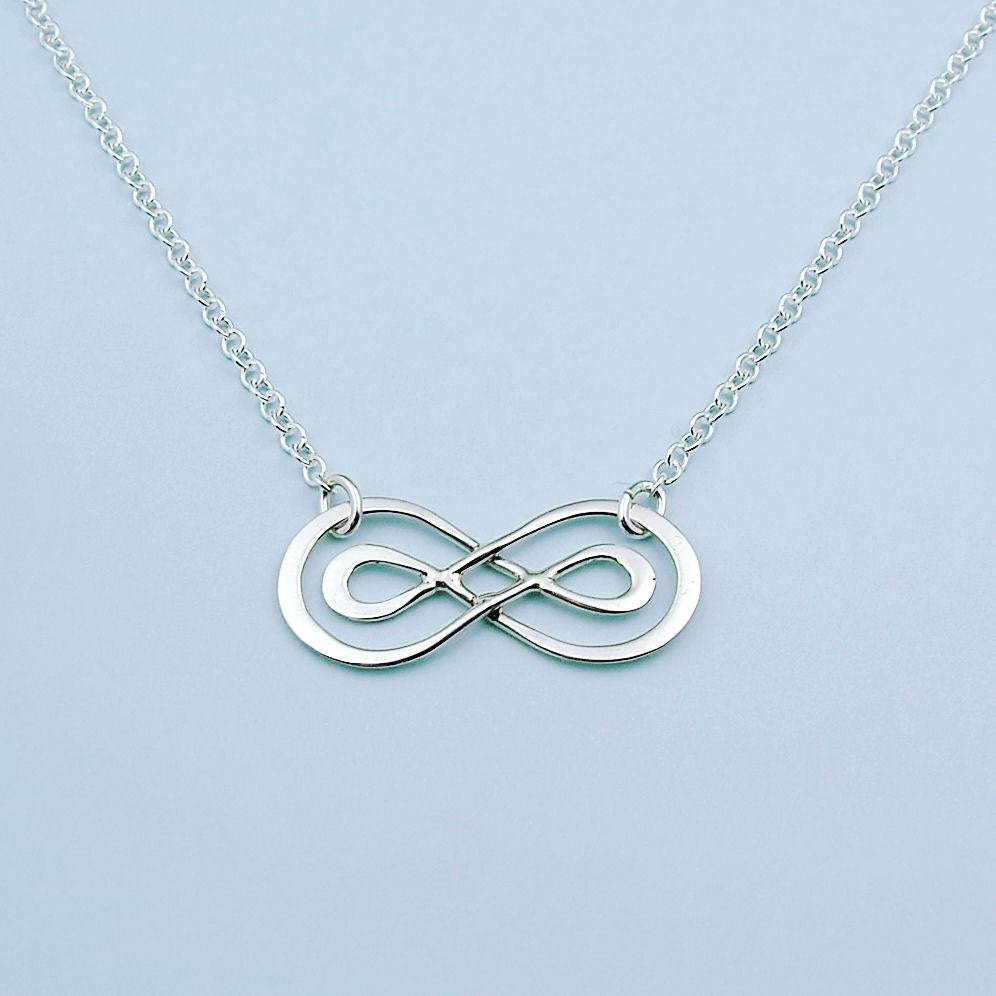 sterling silver infinity necklace infinity
