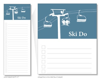 ski do // notepad // skiing // mountains // winter // mountain house // list // to do // lines // checkbox // skel // skel design