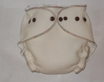 Zorb 2 Fitted diaper with mocha swirl thread