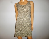 """It's a JUNGLE Out There  -  80's - LEOPARD Print  - Micro Mini - Cotton/Lycra - Mod - Punk - Dress - Marked size 5 - bust  30"""" - 34"""""""