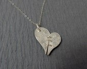 Get Even PT 2 Sterling Silver Broken Heart Necklace