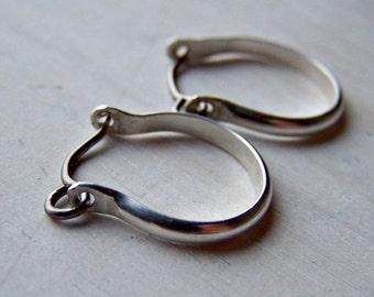 Silver Earrings - Titanium Earrings - Niobium Earrings - Hoop Earrings - Hypoallergenic Earrings - Nickel Free Earrings - Sensitive Earrings