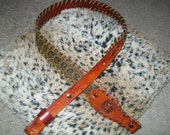 Rattlesnake Skin Rifle Sling with Monogrammed Initials