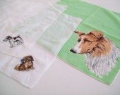 Vintage Cotton Handkerchiefs Featuring Dogs