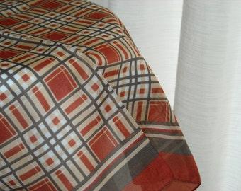 Pretty vintage scarf with plaid print