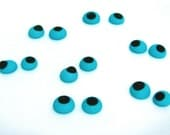 48 Sugar Eyes Cake Toppers 3/8 inch blue Lay Ons