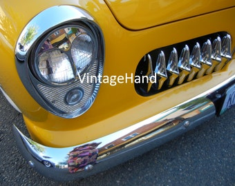 Ford Grille Digital download / Vintage 1949 Ford 2 door coupe / sexy grille / headlight / Man Cave / Photograph / Art download / Home Decor