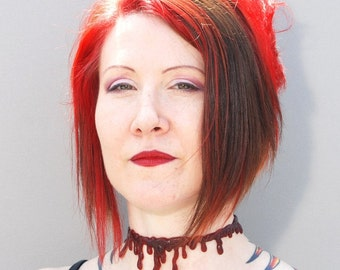 Halloween Jewelry- Blood Drip-  - Vampire-   Blood choker necklace and 2 Blood Bracelets