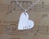 Sterling silver XOXO heart necklace