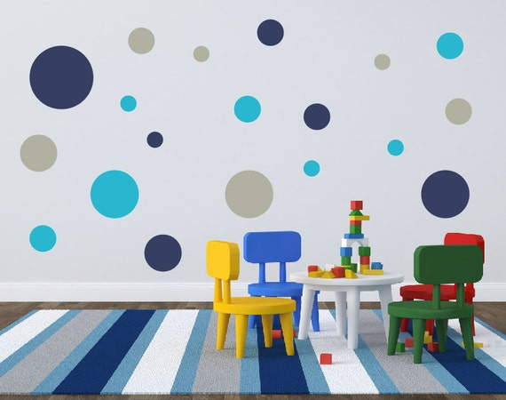 Polka Dot Wall Decals For Kids Rooms : Polka Dot Wall Decals, Circle Wall Decals, Wall Stickers, Childrens ...