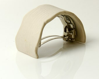 Ponytail Hair Barrette Clip Porcelain