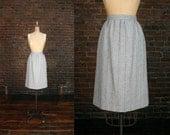 Vintage Twill High Waist Pencil Skirt (XS)