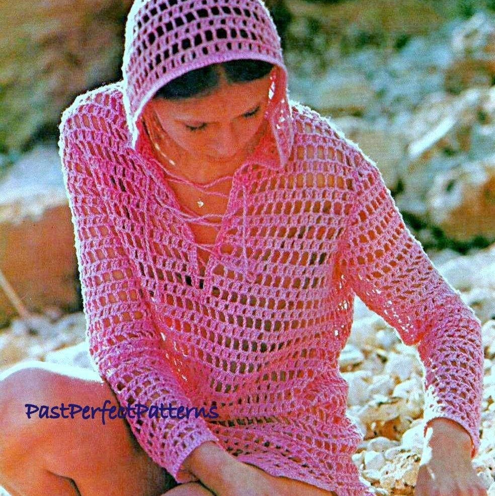 Awesome Crochet Beach Cover Up Pattern Free Gift - Easy Scarf ...