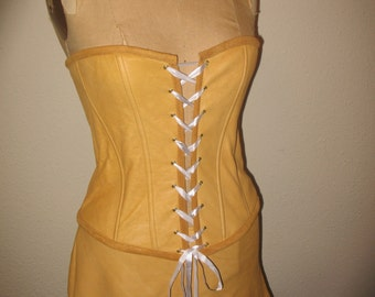 Custom made to order corset and high low skirt  2 piece