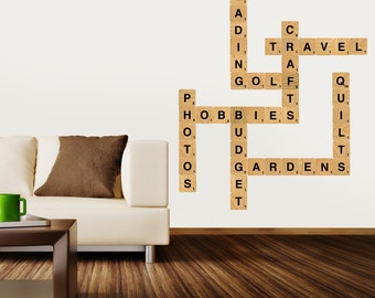 Letter Block Wall Decals-Standard Size